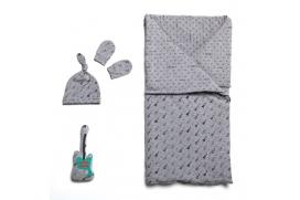 Patron de Ensemble sac de couchage, bonnet et moufles anti-griffures bébé