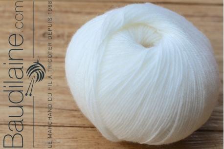 Le Mérinos Layette Uni Blanc