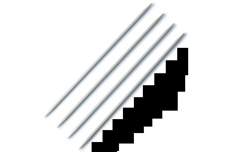 4 aiguilles double pointe 40cm